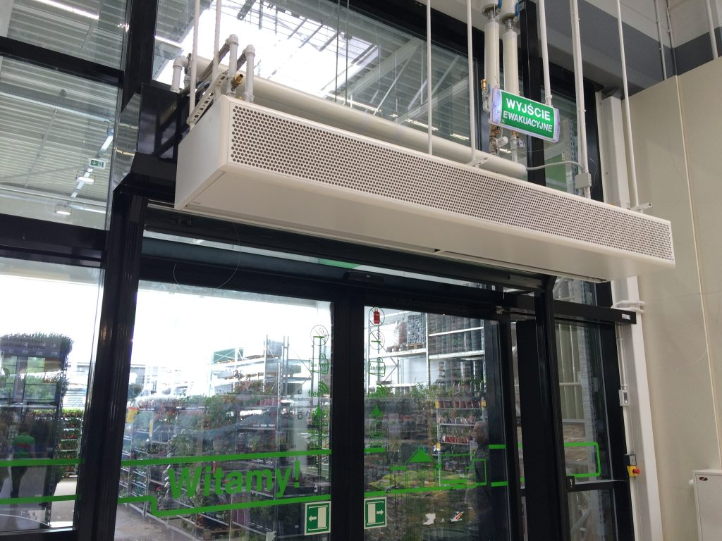 water supplied air curtain