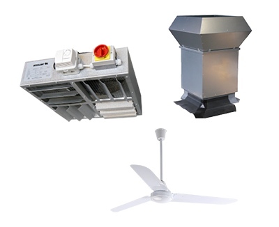 Ventilation climate control products