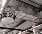 Air handling unit in combination with exhaust system.
